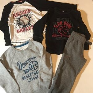 Other - Size 4 boy bundle - 3 tops and 1 fleece